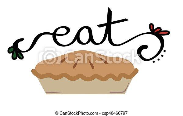Eat Christmas Apple Pie - csp40466797