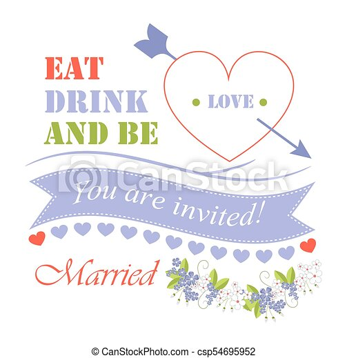 Eat drink and be married vector illustration eat drink and be eat drink and be married vector illustration stopboris Choice Image