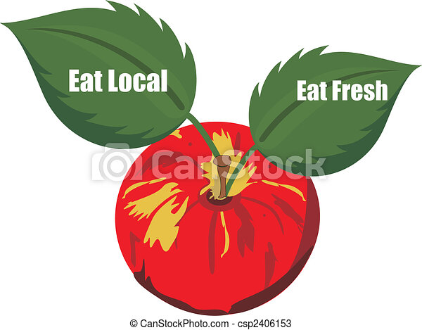 Eat Fresh and Eat Local products.... - csp2406153