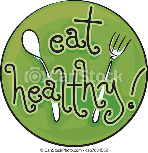 Eat Healthy Icon Illustration Advocating A Diet Vector