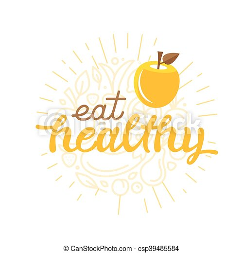 Eat healthy - motivational poster - csp39485584