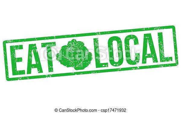 Eat local stamp - csp17471932