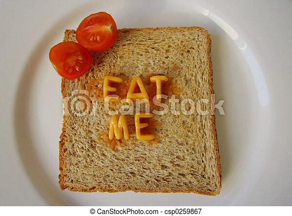 eat me words on toast - csp0259867