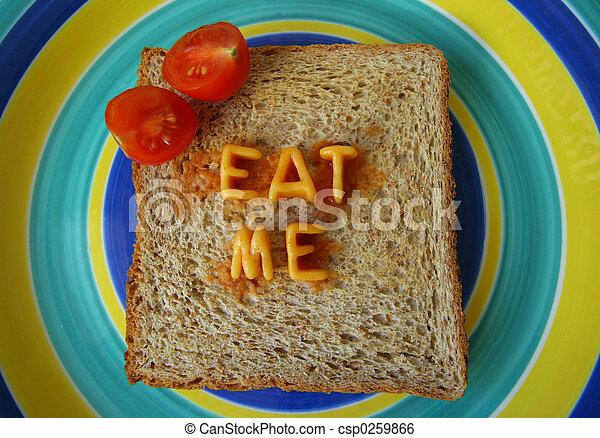 eat me words on toast - csp0259866