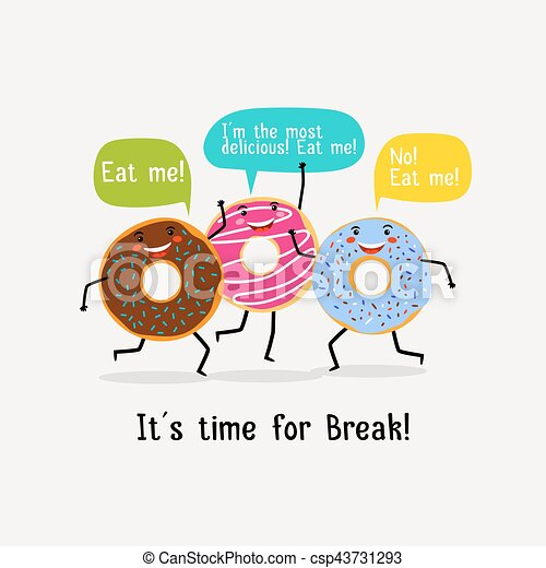 eat sweet tasty donut poster cute colorful glazing donuts with