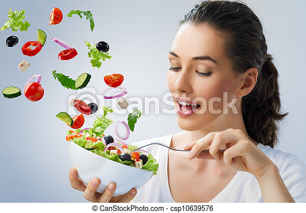 eating healthy food - csp10639576
