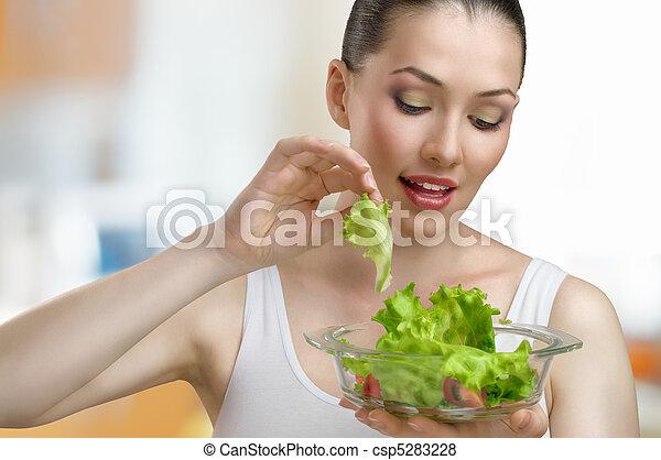 eating healthy food - csp5283228