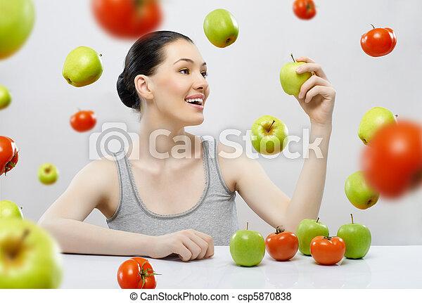 eating healthy food - csp5870838