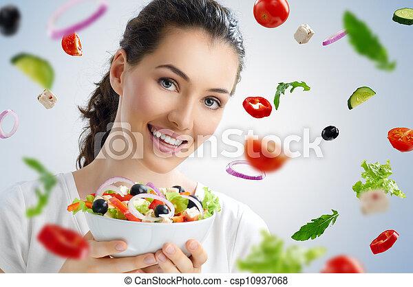 eating healthy food - csp10937068