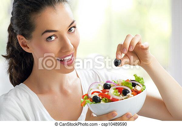 eating healthy food - csp10489590
