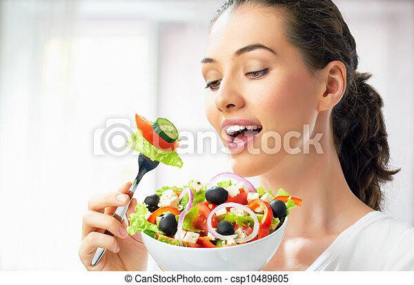eating healthy food - csp10489605