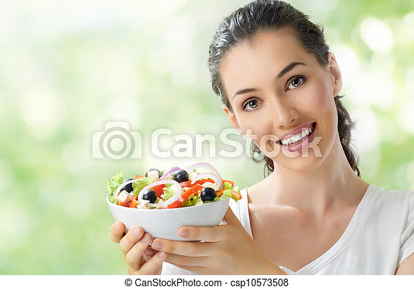 eating healthy food - csp10573508