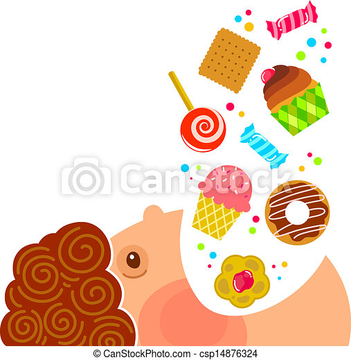 eating sweets - csp14876324