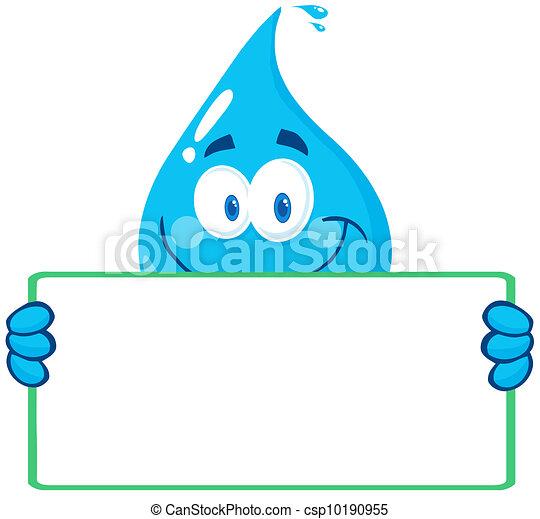 eau, bann, goutte, caractère, tenue - csp10190955