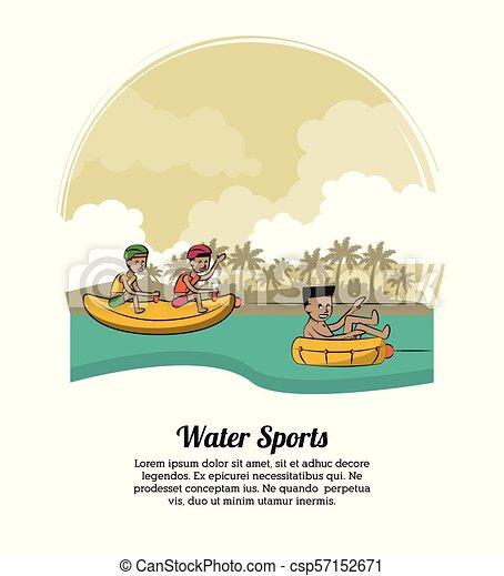 eau, bannière, sports - csp57152671