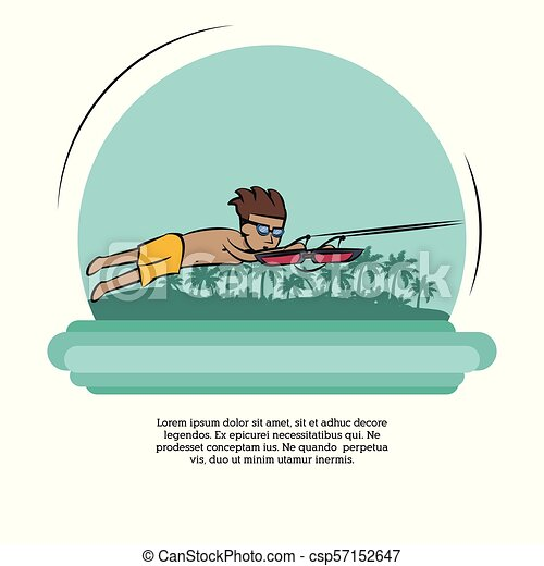 eau, bannière, sports - csp57152647