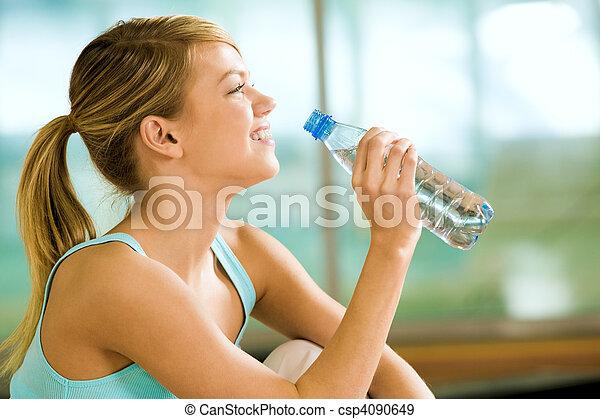 eau, boisson - csp4090649