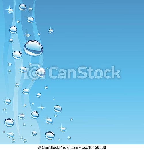 eau, bulles, vague - csp18456588