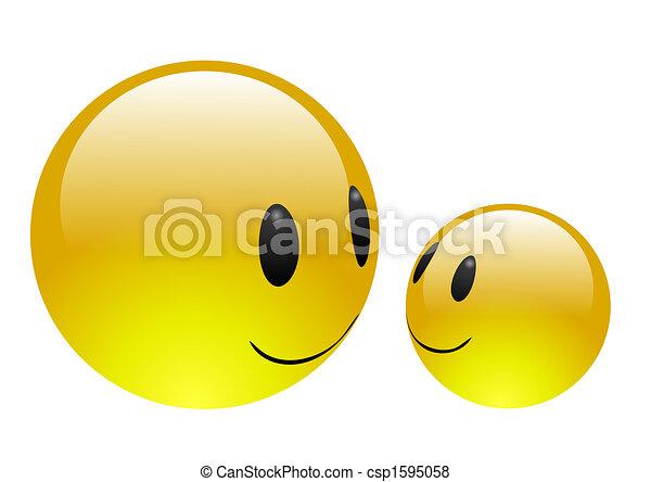 eau, emoticons, -, amitié - csp1595058