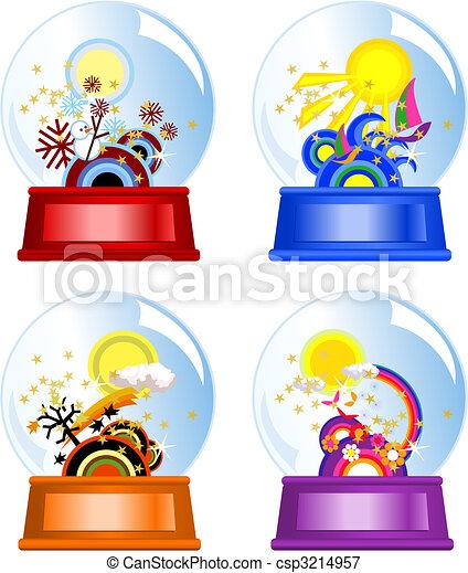 eau, globes - csp3214957
