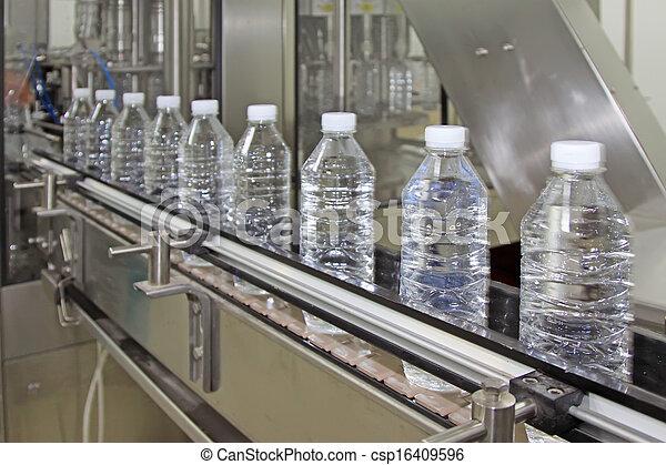 eau, ligne, production, mis bouteille, minéral - csp16409596