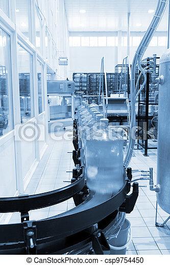 eau, magasin, verser, moderne, industriel, minéral - csp9754450