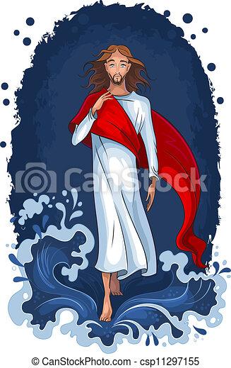 eau, marche, jésus - csp11297155