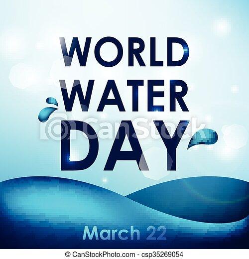 eau, mondiale, jour - csp35269054