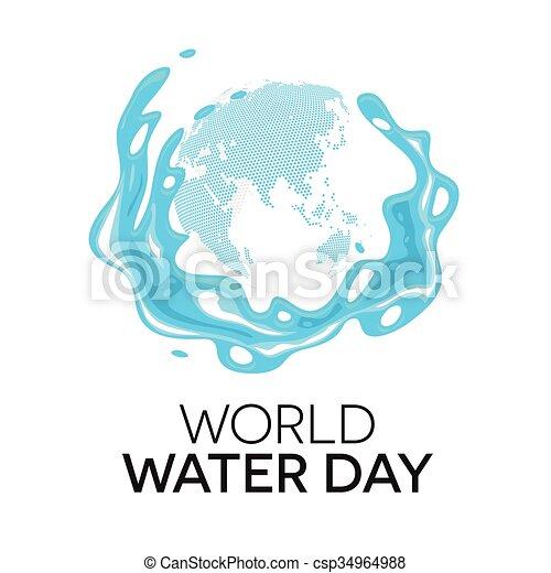 eau, mondiale, jour - csp34964988