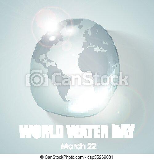 eau, mondiale, jour - csp35269031