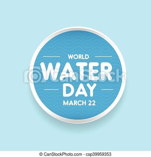 eau, mondiale, vecteur, jour - csp39959353