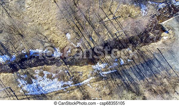 eau, ville, rivière, parc, printemps - csp68355105