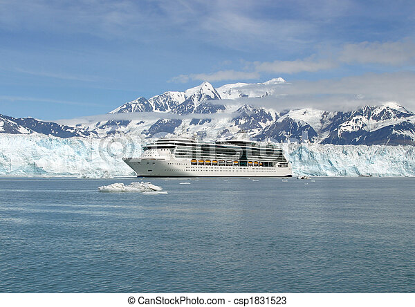 eaux, aventure, alaska, glacé - csp1831523
