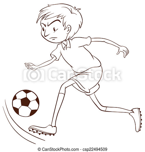 Ebene Skizze Fussballspieler Skizze Ebene Abbildung