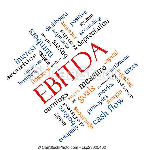 EBITDA Word Cloud Angled Concept - csp23025462