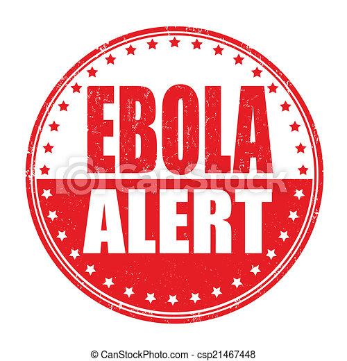 ebola, bélyeg, allert - csp21467448
