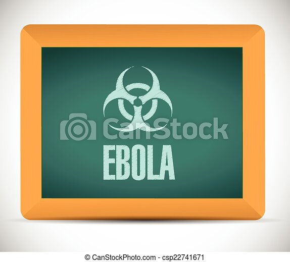 ebola sign on a board illustration  - csp22741671