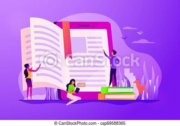 Ebook concept vector illustration