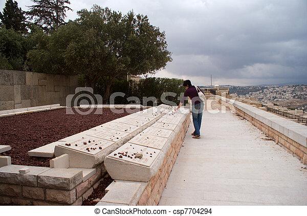 ebreo, oliva, monte, vecchio, cemetry - csp7704294