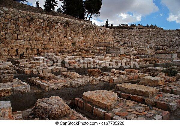 ebreo, oliva, monte, vecchio, cemetry - csp7705220