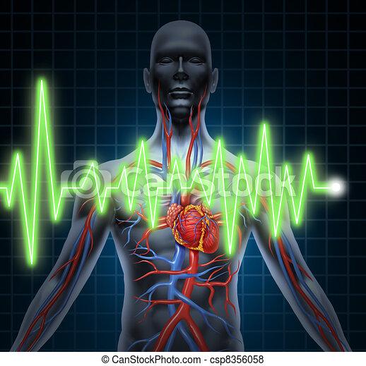ECG and EKG Cardiovascular System - csp8356058