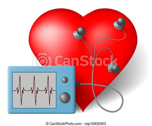 ECG heart monitor - csp16932403