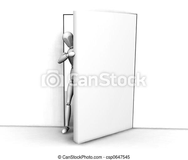 Meando por la puerta - csp0647545