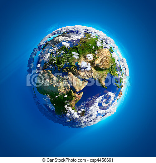 echte, aarde, atmosfeer - csp4456691