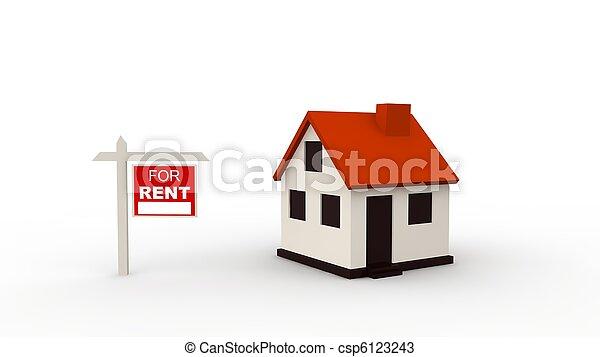 Immobilien-Konzept - csp6123243