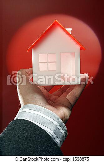 echte, eigendom, concept, of, verzekering - csp11538875