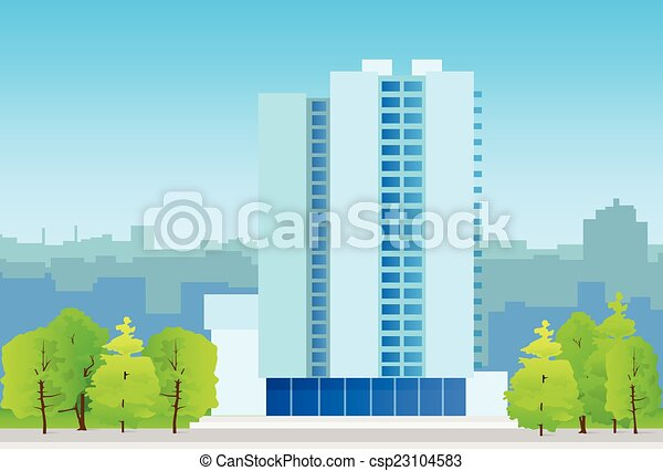 echte , stadt, skylines, geschäftsbüro, gut, gebäude - csp23104583