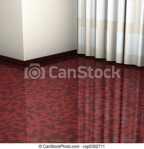 Ecke brauner boden brauner boden bertragung vorhang for Boden 3d bilder