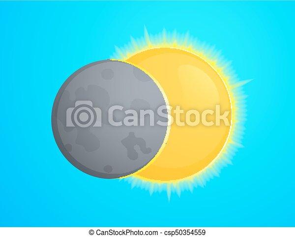 Eclipce vector illustration - csp50354559