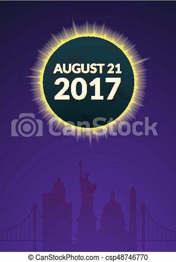 Eclipce vector illustration - csp48746770